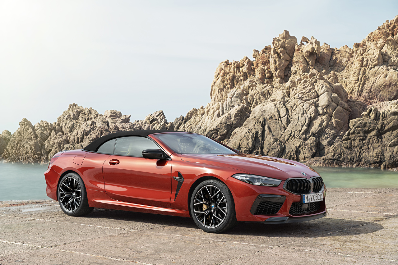 Images BMW 2019 M8 Competition Cabrio Worldwide Cabriolet Red Cars Metallic Convertible auto automobile