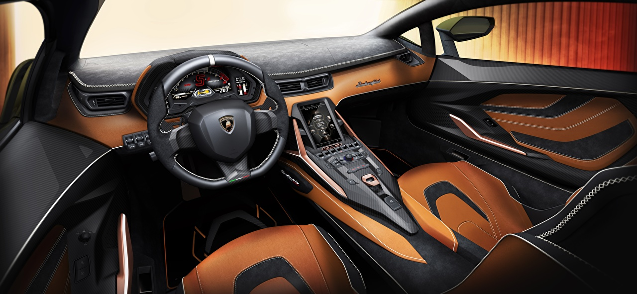 Bilder von Salons Lamborghini Lenkrad Sian, 2019 Innenarchitektur auto Autos automobil