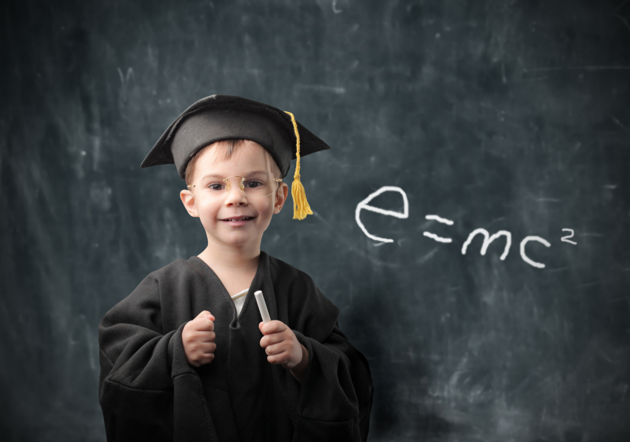 Fotos Junge Schule e=mc2 Kinder Brille Uniform Starren Blick