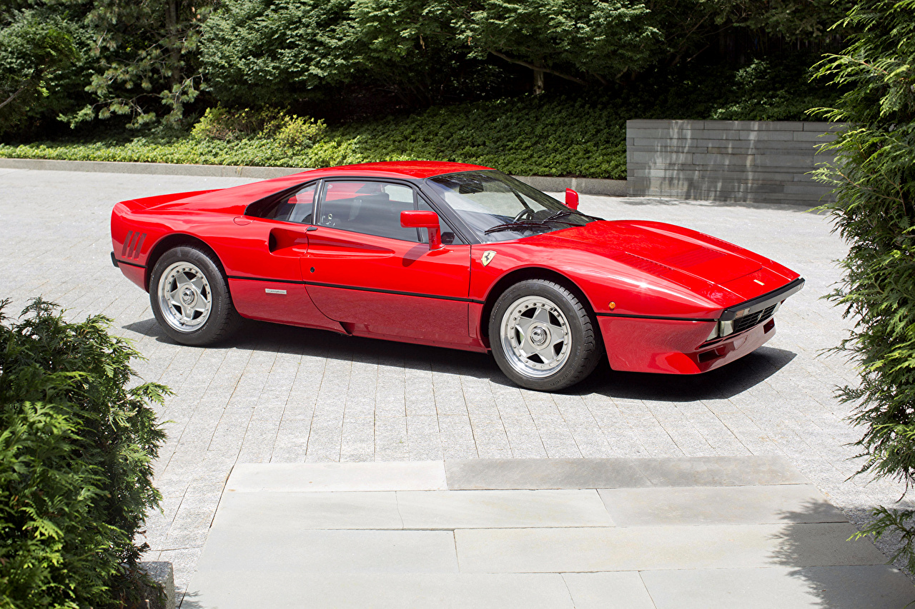 Pictures automobile Ferrari 1984-85 GTO Retro Pininfarina Red Metallic Cars auto vintage antique