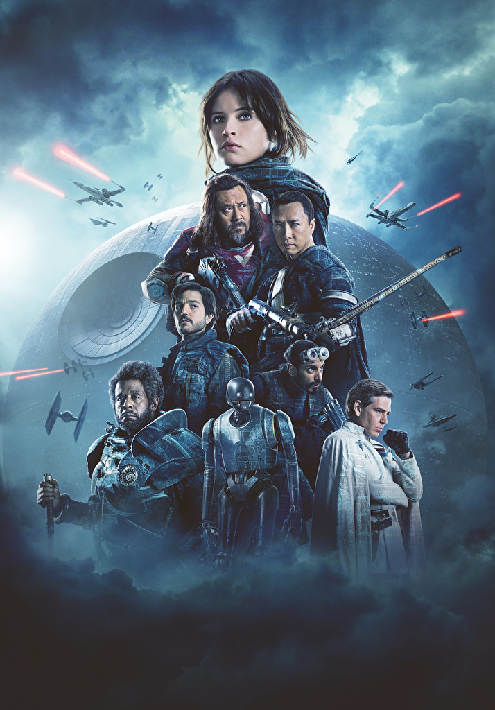 Images Girls Rogue One: A Star Wars Story Felicity Jones Warriors Forest Whitaker, Ben Mendelsohn, Donnie Yen, Diego Luna, Riz Ahmed, Wen Jiang Celebrities Robot Movies  for Mobile phone female young woman warrior robots film