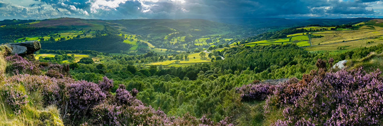 Picture Nature England Peak District Hill Scenery Panorama panoramic landscape photography