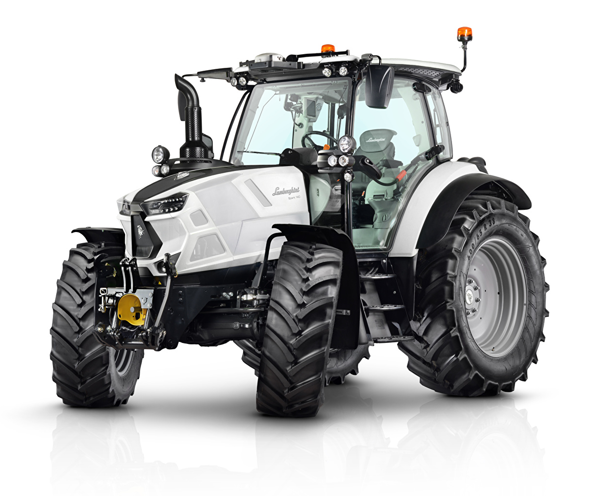 Image Lamborghini Tractor Spark 140, 2017 White White background tractors