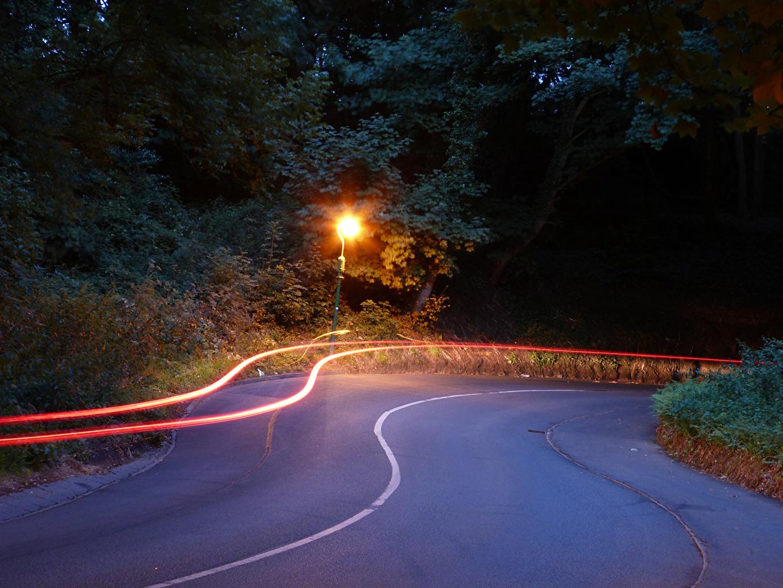 Photos United Kingdom Guernsey Nature Roads night time Street lights Night