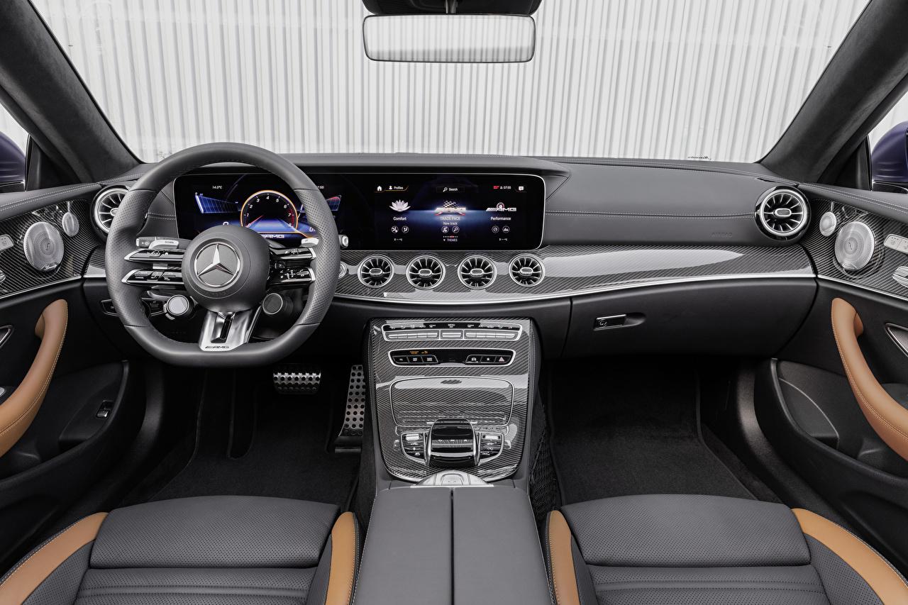 Bilder på skrivbordet Salons Mercedes-Benz Bil ratt E 53 4MATIC, Cabrio Worldwide, A238, 2020 Cabriolet automobil ratten öppen bil bil Bilar