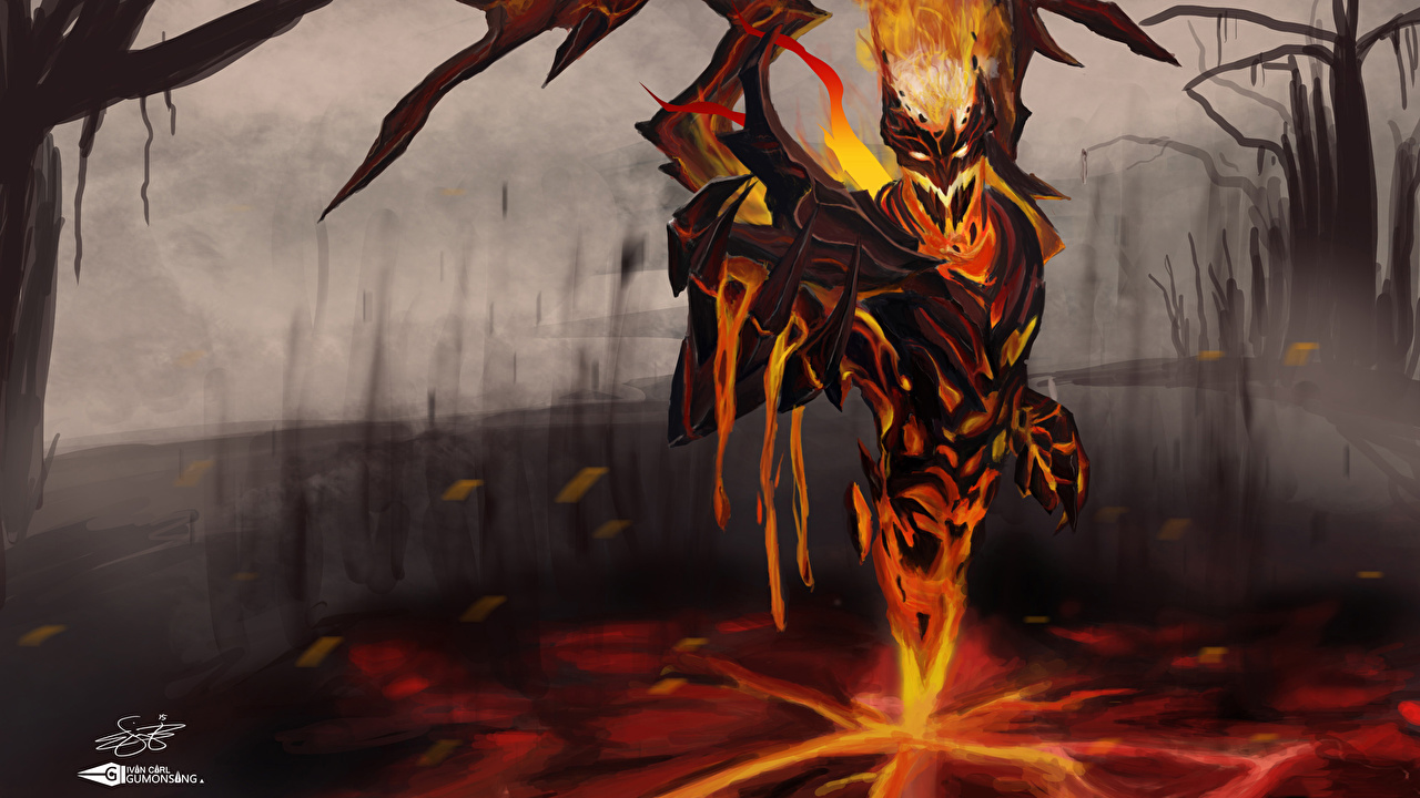 Image DOTA 2 Shadow Fiend demon Monsters Fantasy flame Games Demons monster Fire vdeo game