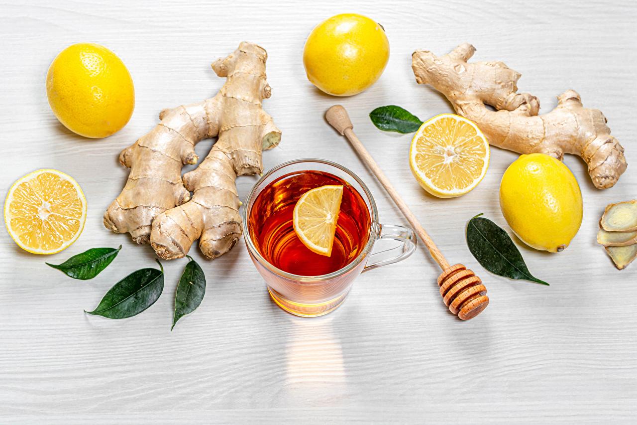 Wallpaper Food Mug Tea Lemons Ginger Foliage Leaf