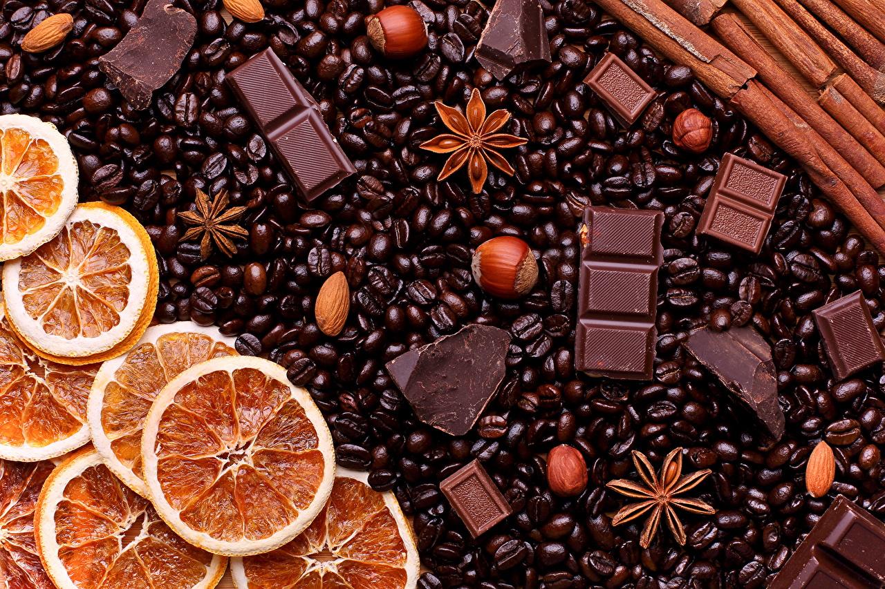 壁紙 菓子 チョコレート コーヒー ナッツ オレンジ