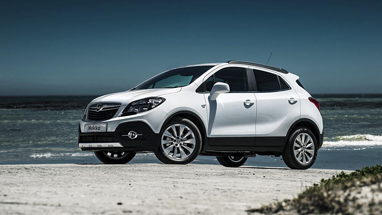 Papeis De Parede Opel 2015 Mokka Za Spec Branco Lateralmente Carros Baixar Imagens