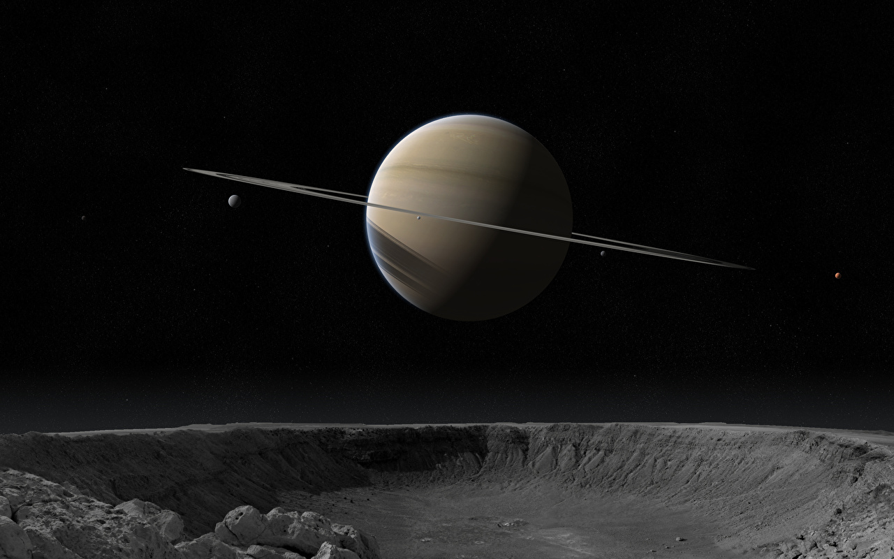 Picture Planet Saturn Planet Ring System Space 3d Graphics