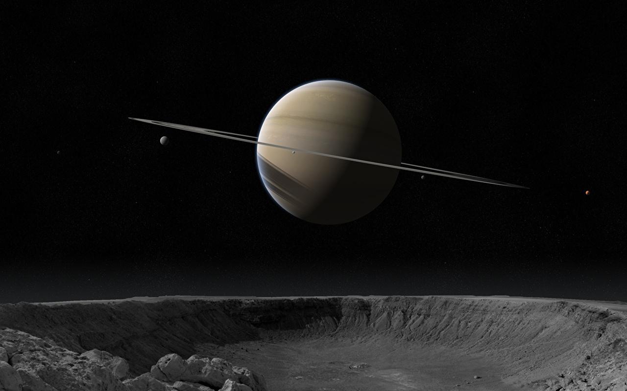 Afbeelding planeet Saturnus planetaire ring Ruimte 3D afbeeldingen Planeten Planeet ringen 3D graphics 3D afbeelding