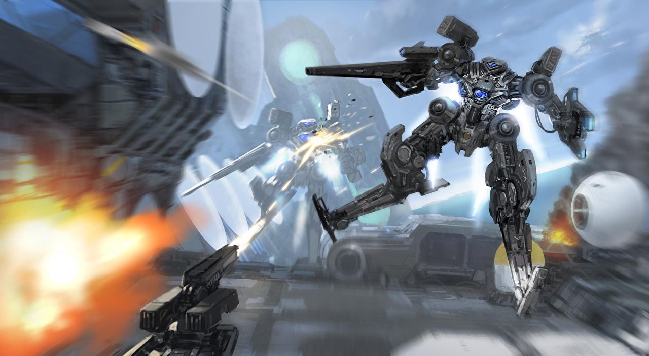 Image robots Fantasy fighting Technics Fantasy Robot Battles