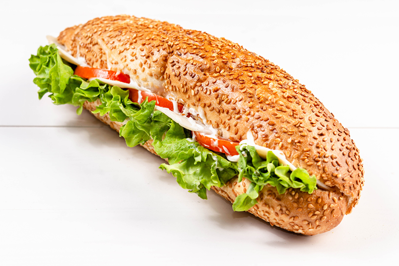Pictures Sandwich Buns Fast food Food Closeup