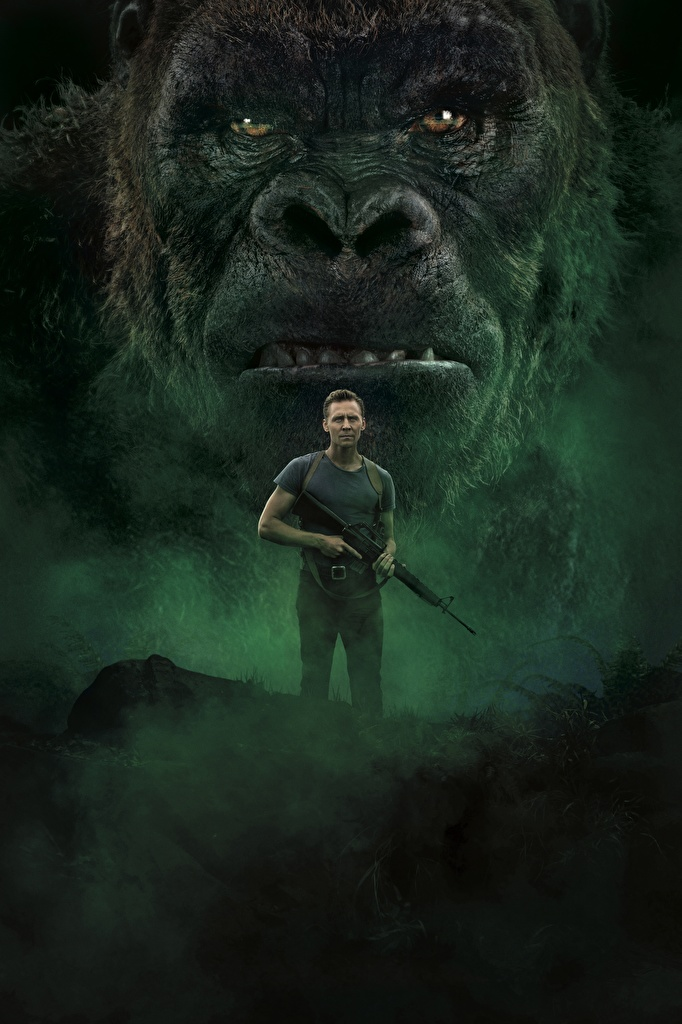 Wallpaper Kong: Skull Island Tom Hiddleston Monkeys Men Movies Snout  for Mobile phone monkey Man film