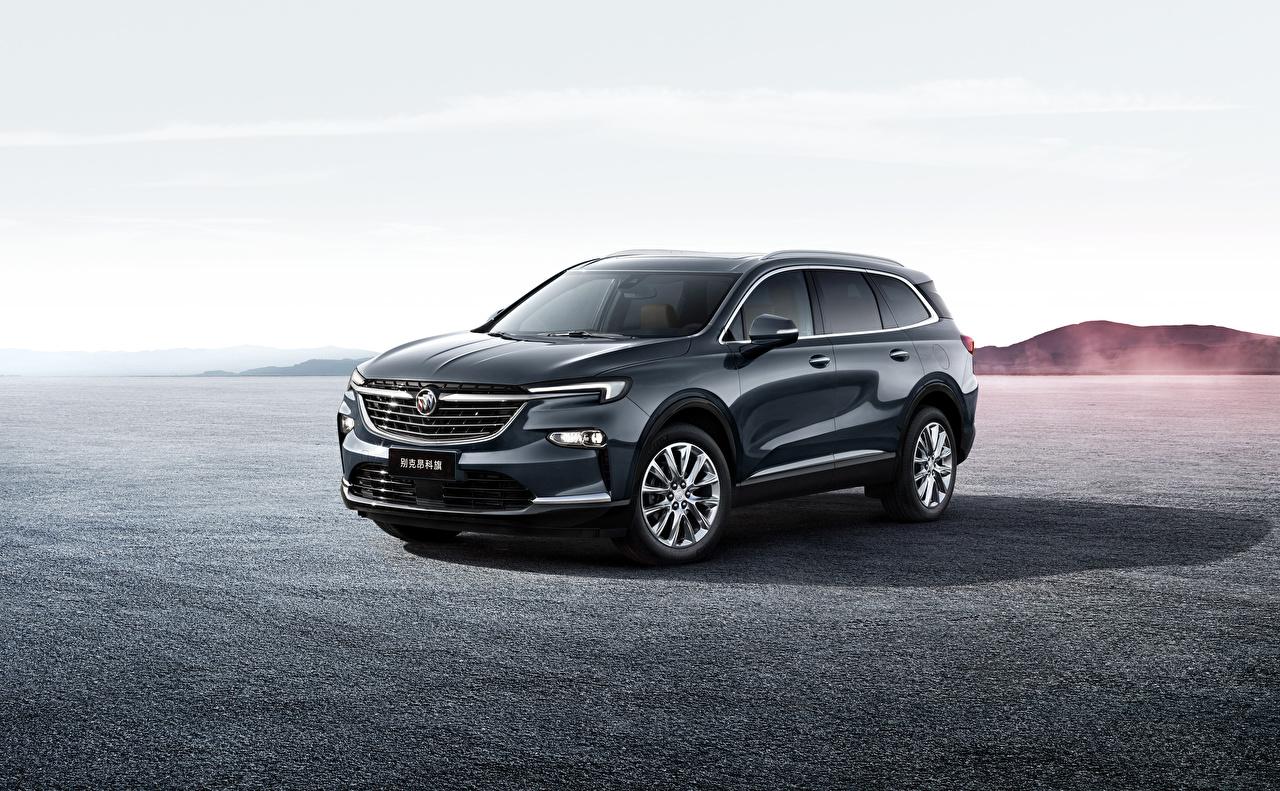 Desktop Hintergrundbilder Buick Crossover 2019 Enclave Grau Autos Metallisch Softroader graue graues auto automobil