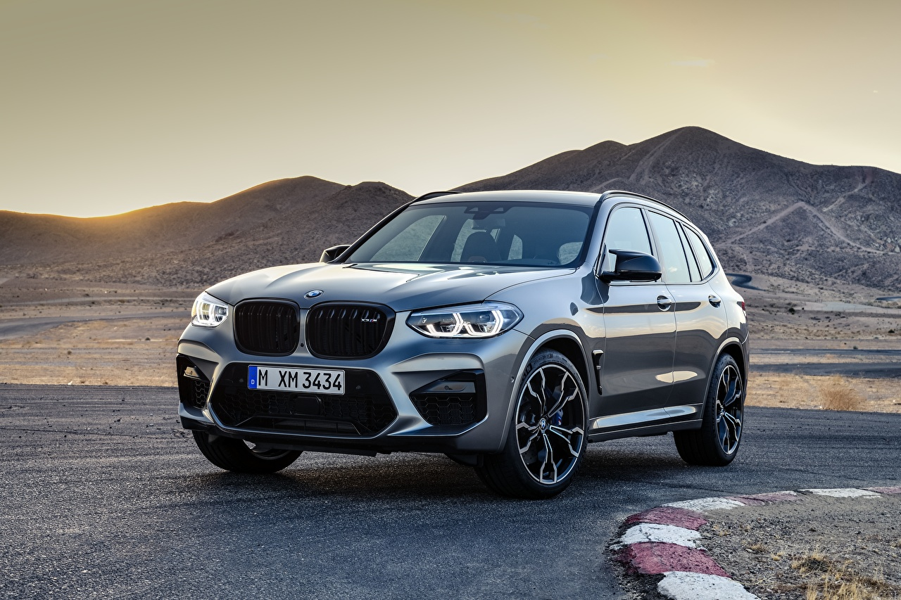 Images BMW CUV X3M, F97, Competition Grey Mountains Metallic automobile Crossover gray mountain auto Cars