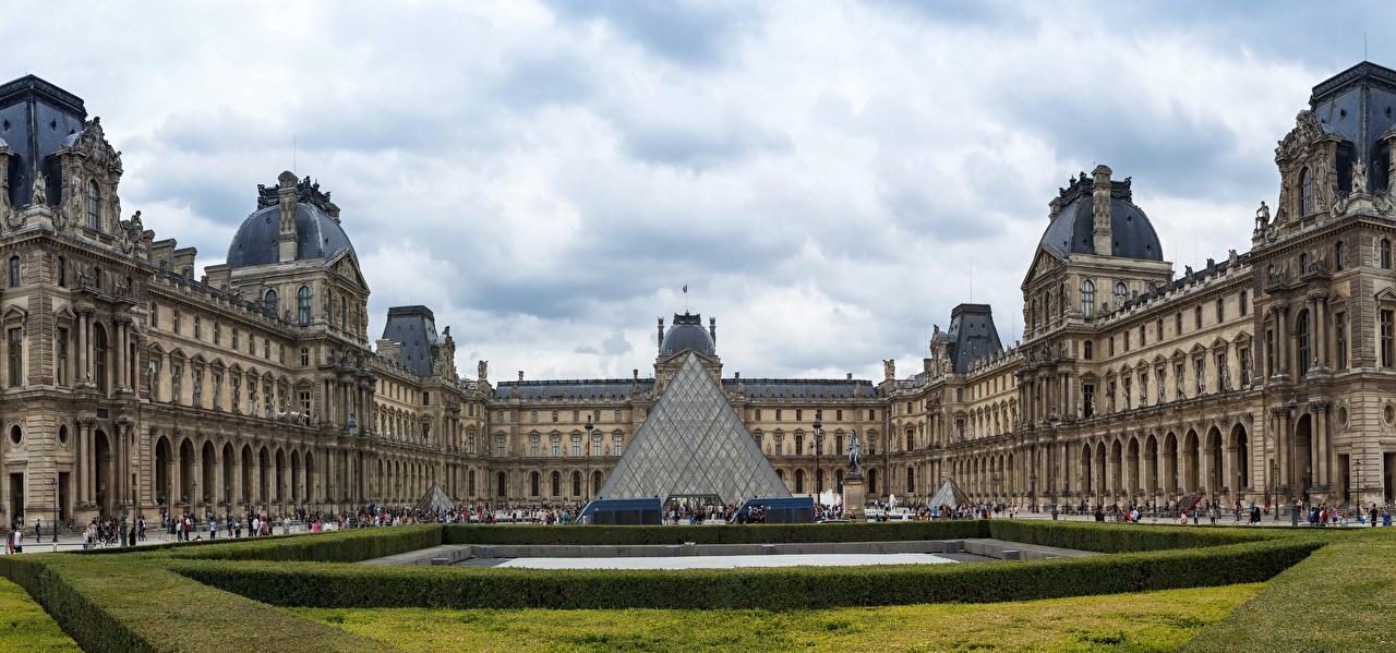 Foto's Parijs Paleis Frankrijk Louvre Museum Steden Landschapsontwerp musea een stad