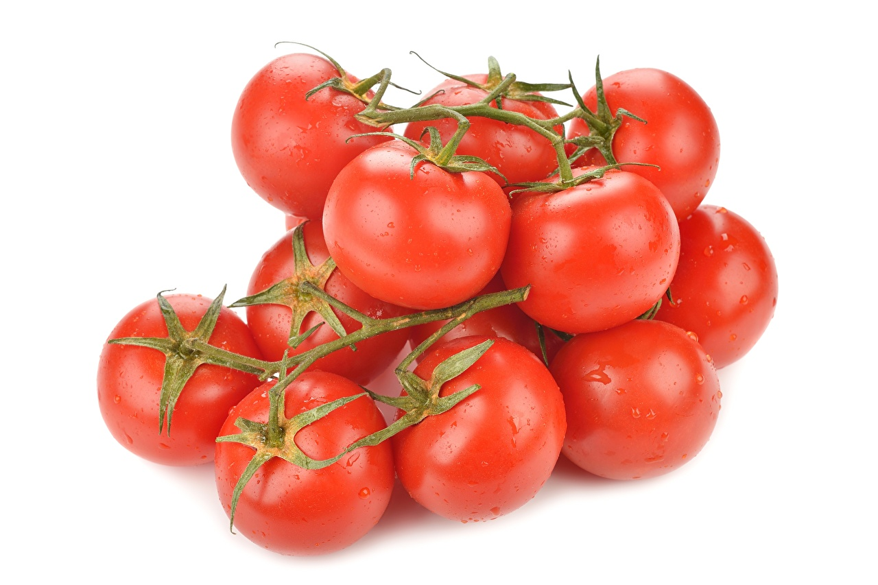 Picture Tomatoes Food Closeup White background