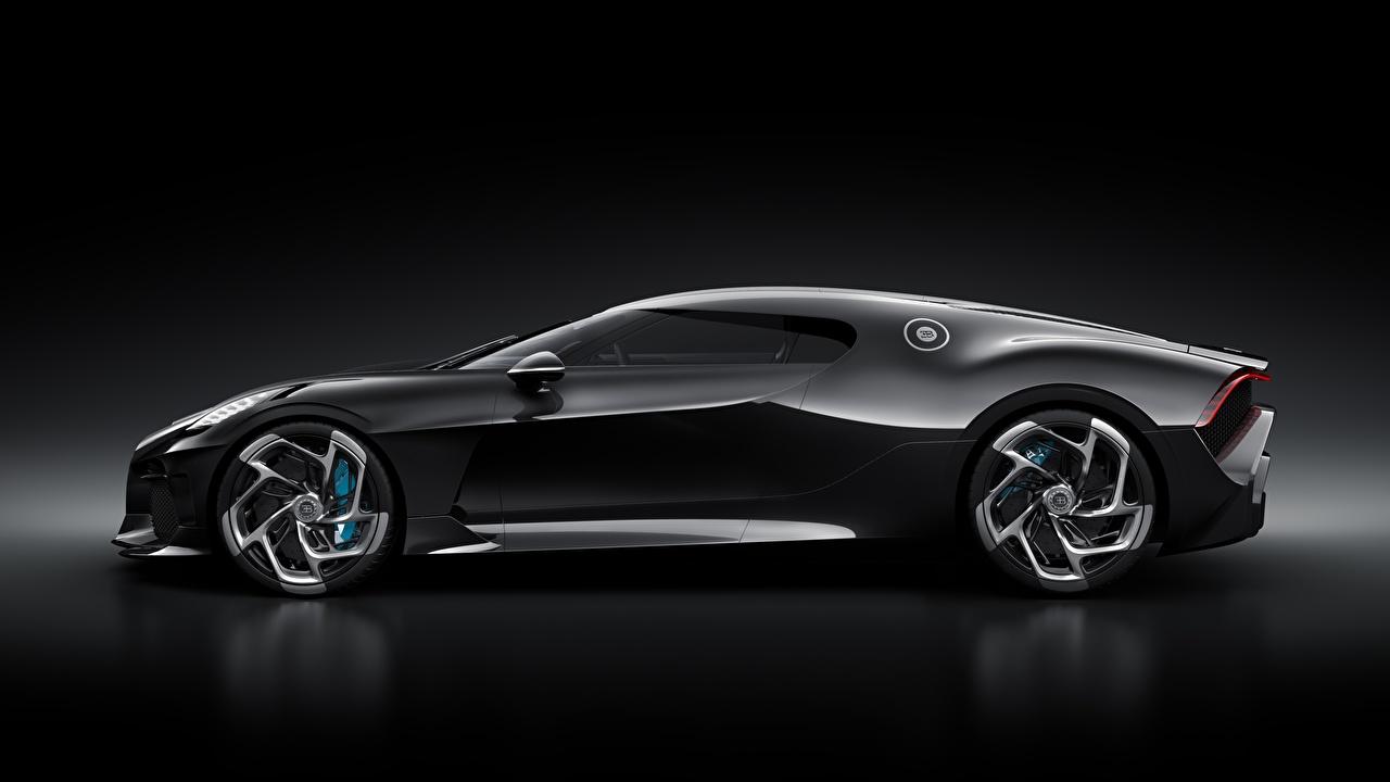Desktop Hintergrundbilder Bugatti La Voiture Noire Schwarz Autos
