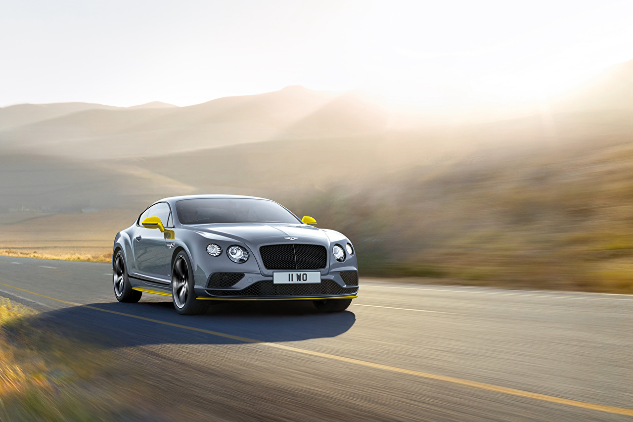 Photos Bentley Continental GT Speed Black Edition moving Cars Motion riding driving at speed auto automobile