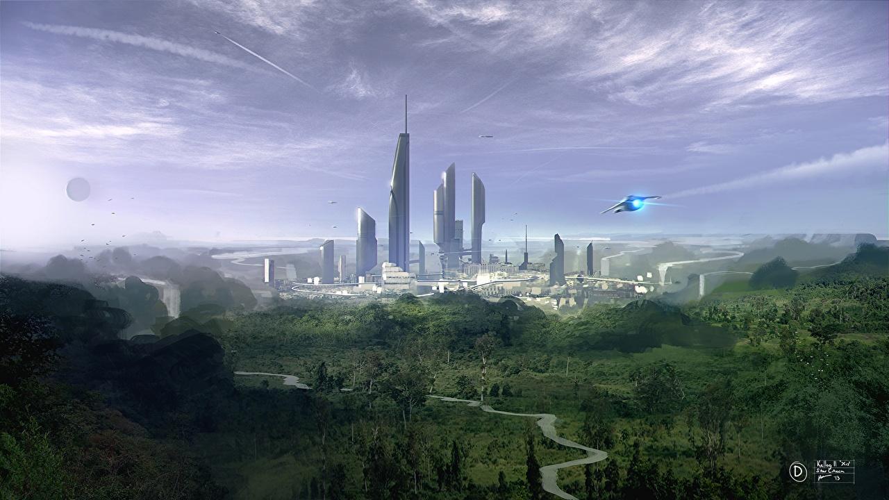 Wallpaper Star Citizen Fantasy vdeo game Fantastic world Games