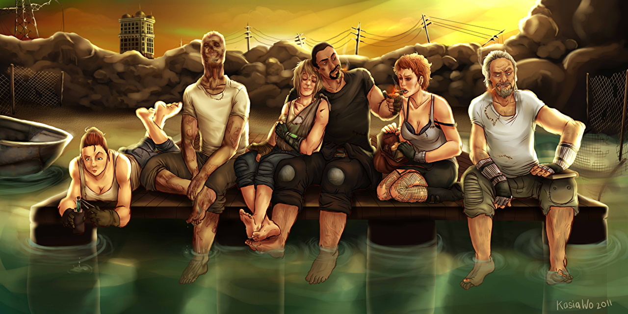 Pictures Fallout Fallout 3 People vdeo game Sitting Painting Art Games sit