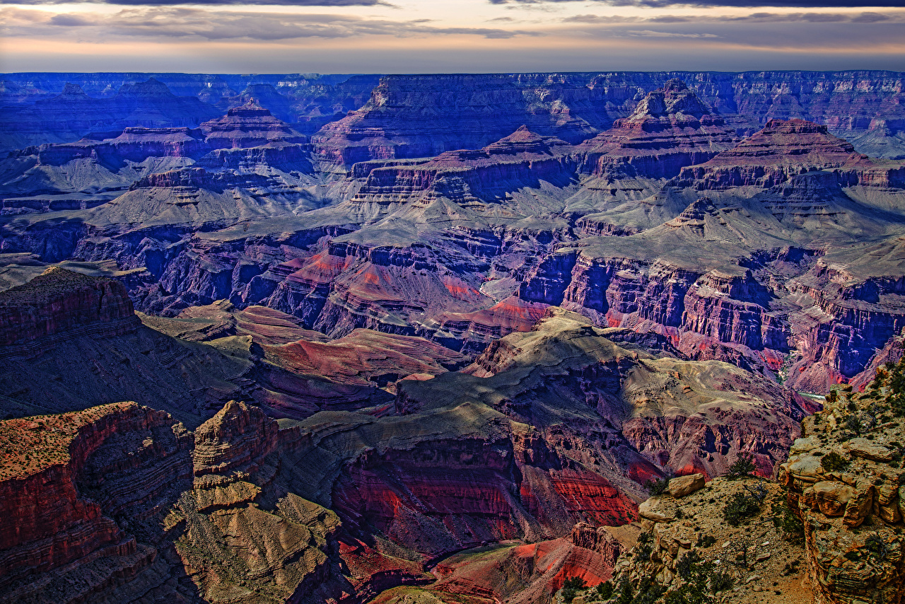 Photo Grand Canyon Park USA Nature Mountains Parks Moss