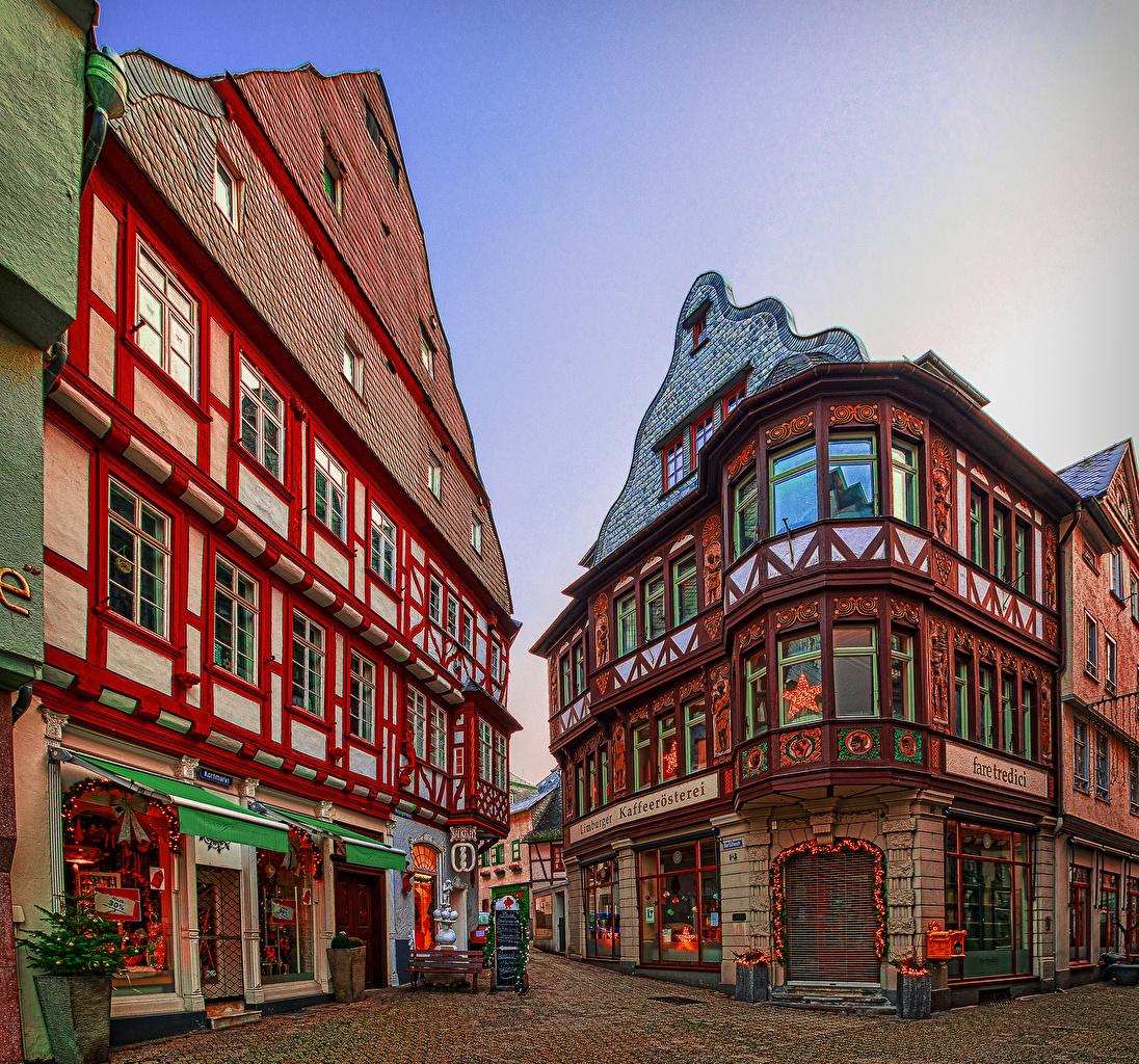 Fotos Deutschland Limburg an der Lahn Straße Städte Gebäude Stadtstraße Haus
