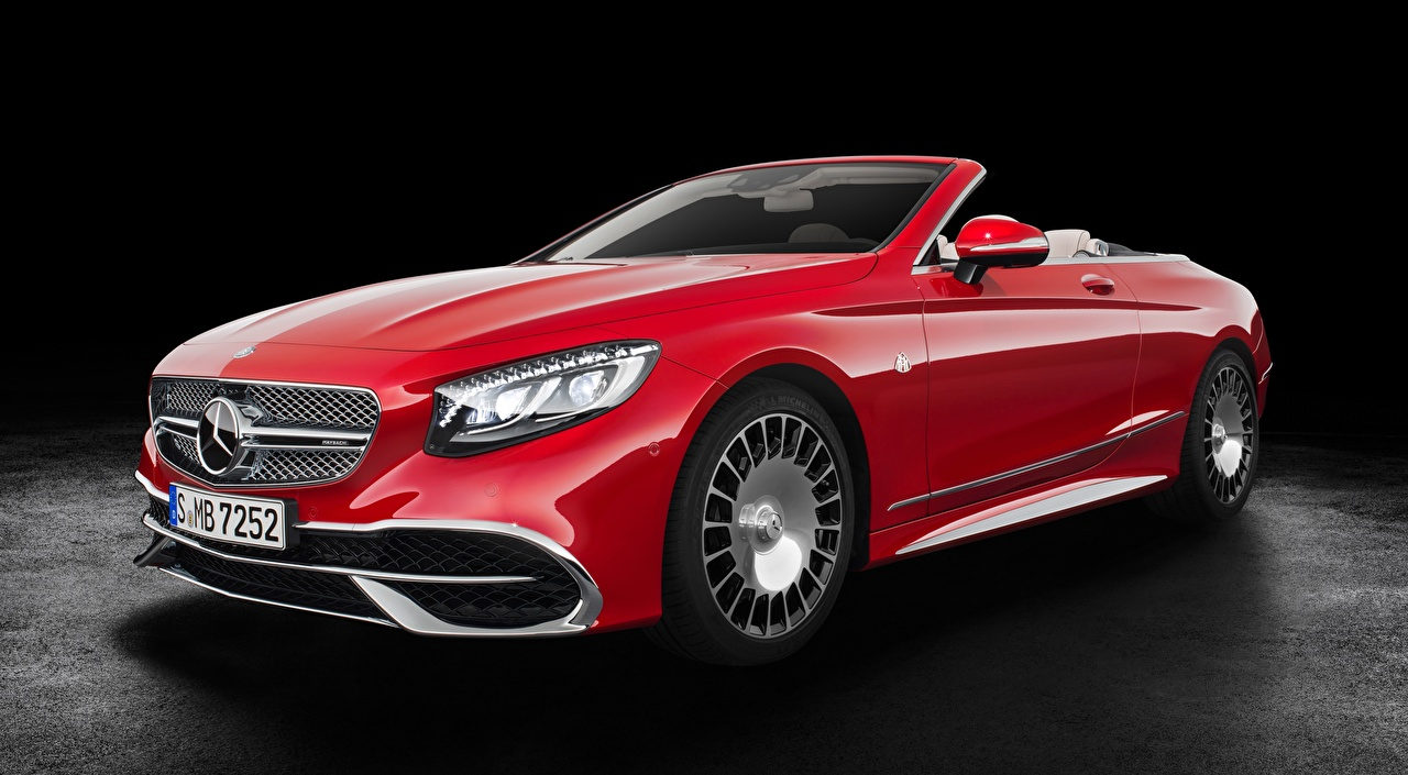 Pictures Maybach Mercedes-Benz S 650, Cabriolet, 2017 Cabriolet Red automobile Convertible Cars auto