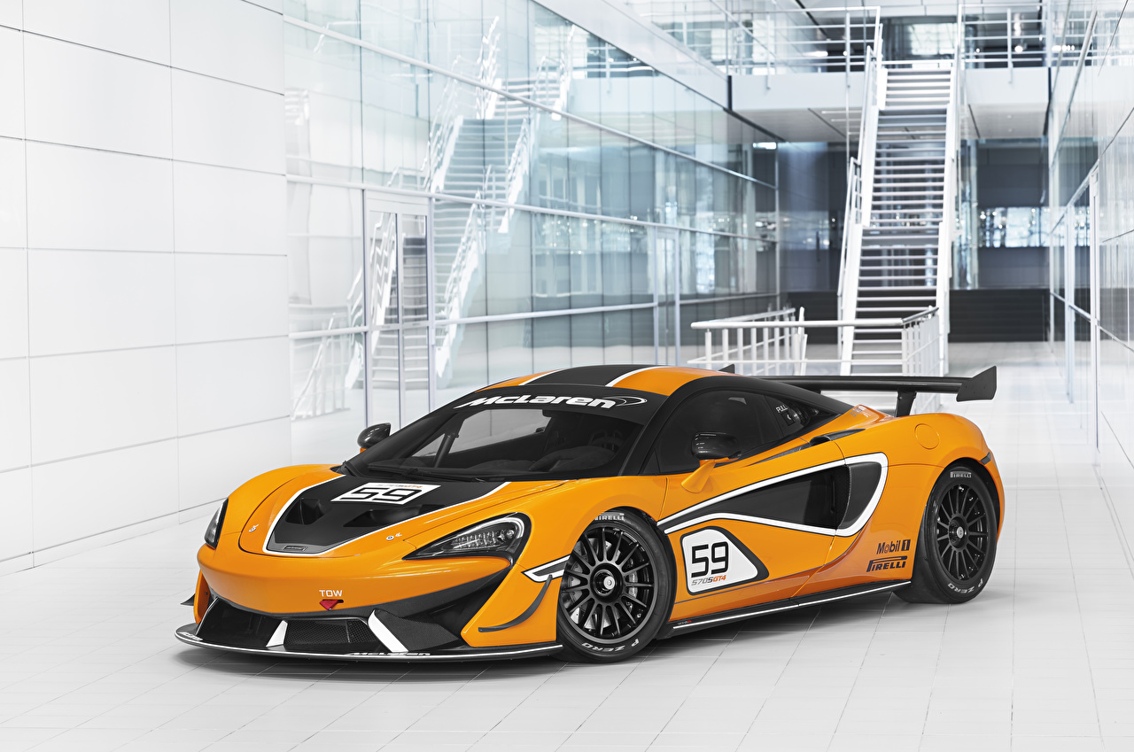 Images Tuning McLaren 2016-20 570S GT4 Yellow auto Cars automobile