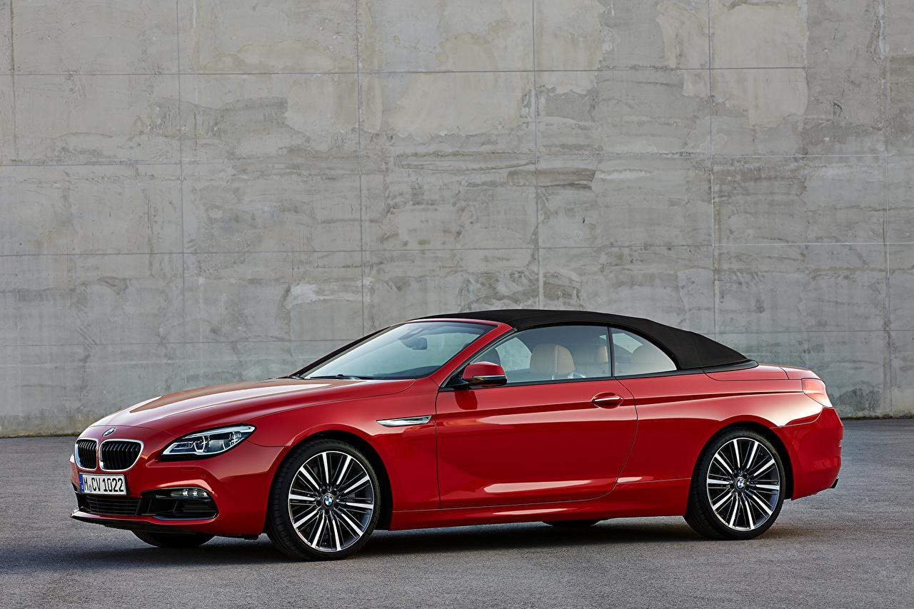 Photo BMW 2015 M6 convertible Red Cars Metallic auto automobile