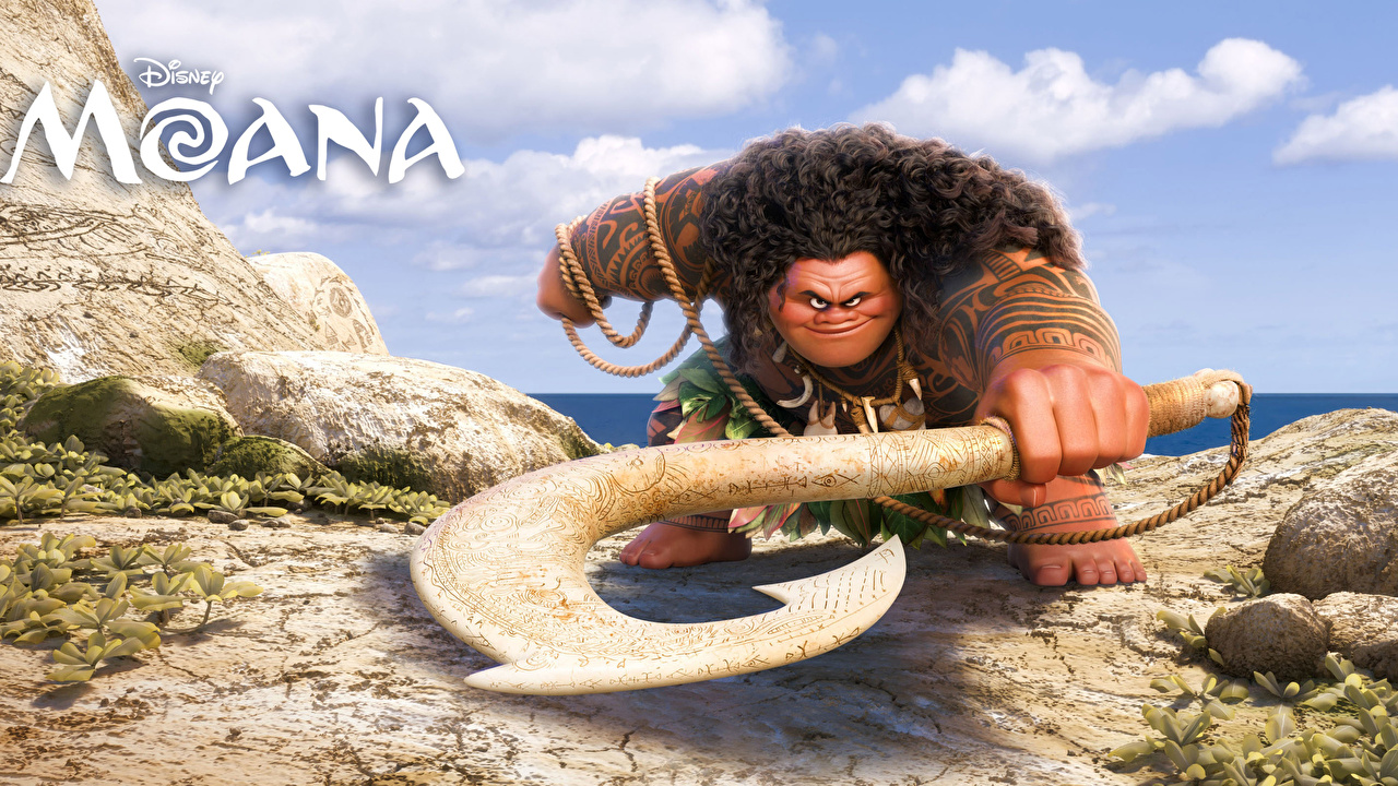 Fotos von Disney Vaiana – Das Paradies hat einen Hak Tätowierung Mann Maui Zeichentrickfilm Animationsfilm