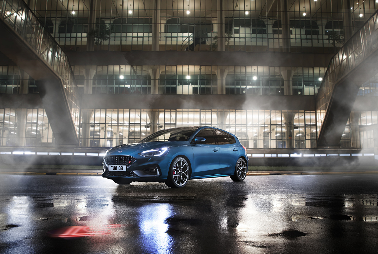 Wallpapers Ford 2019 Focus ST Worldwide Light Blue automobile auto Cars