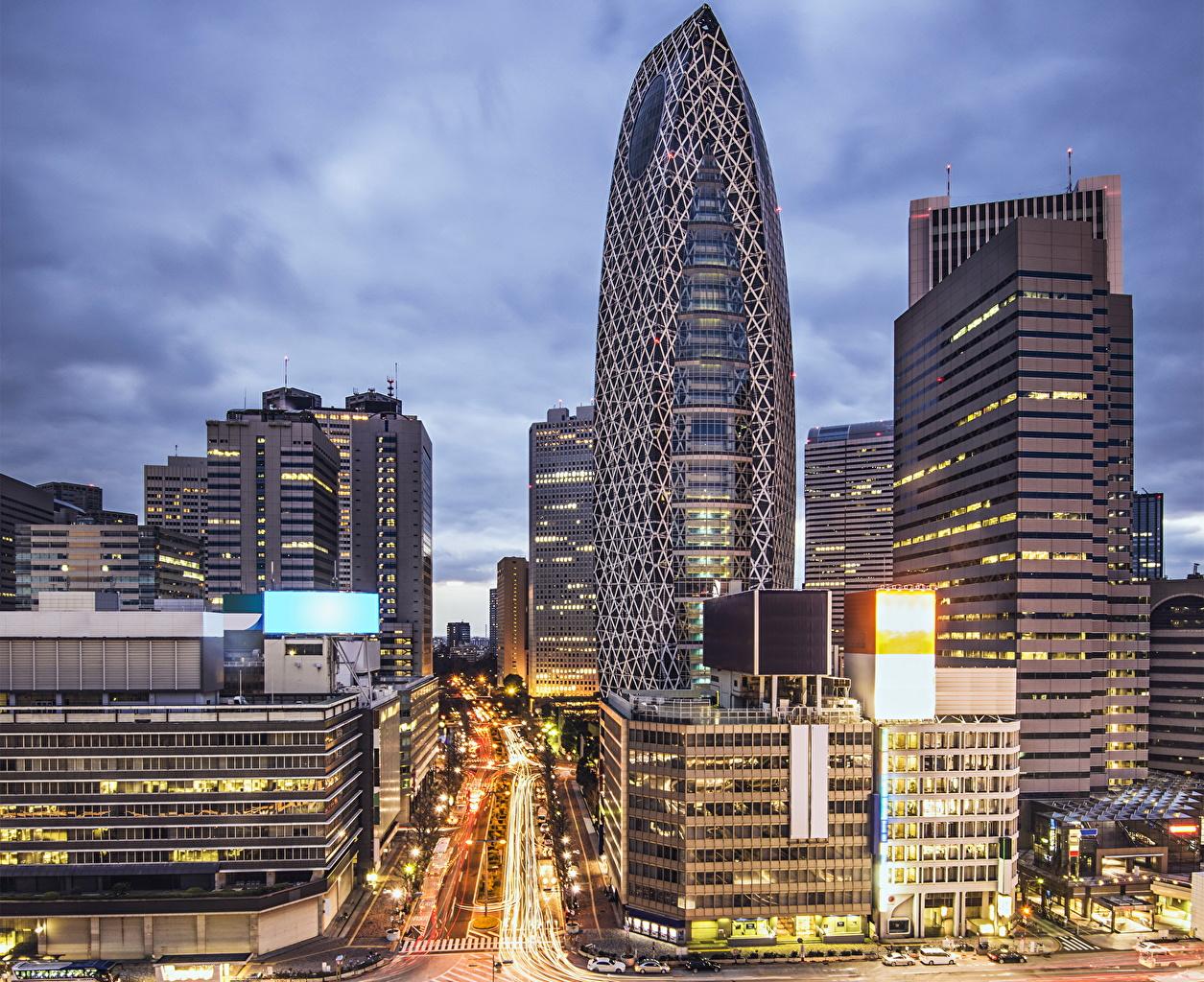 Picture Tokyo Japan Roads Skyscrapers Cities