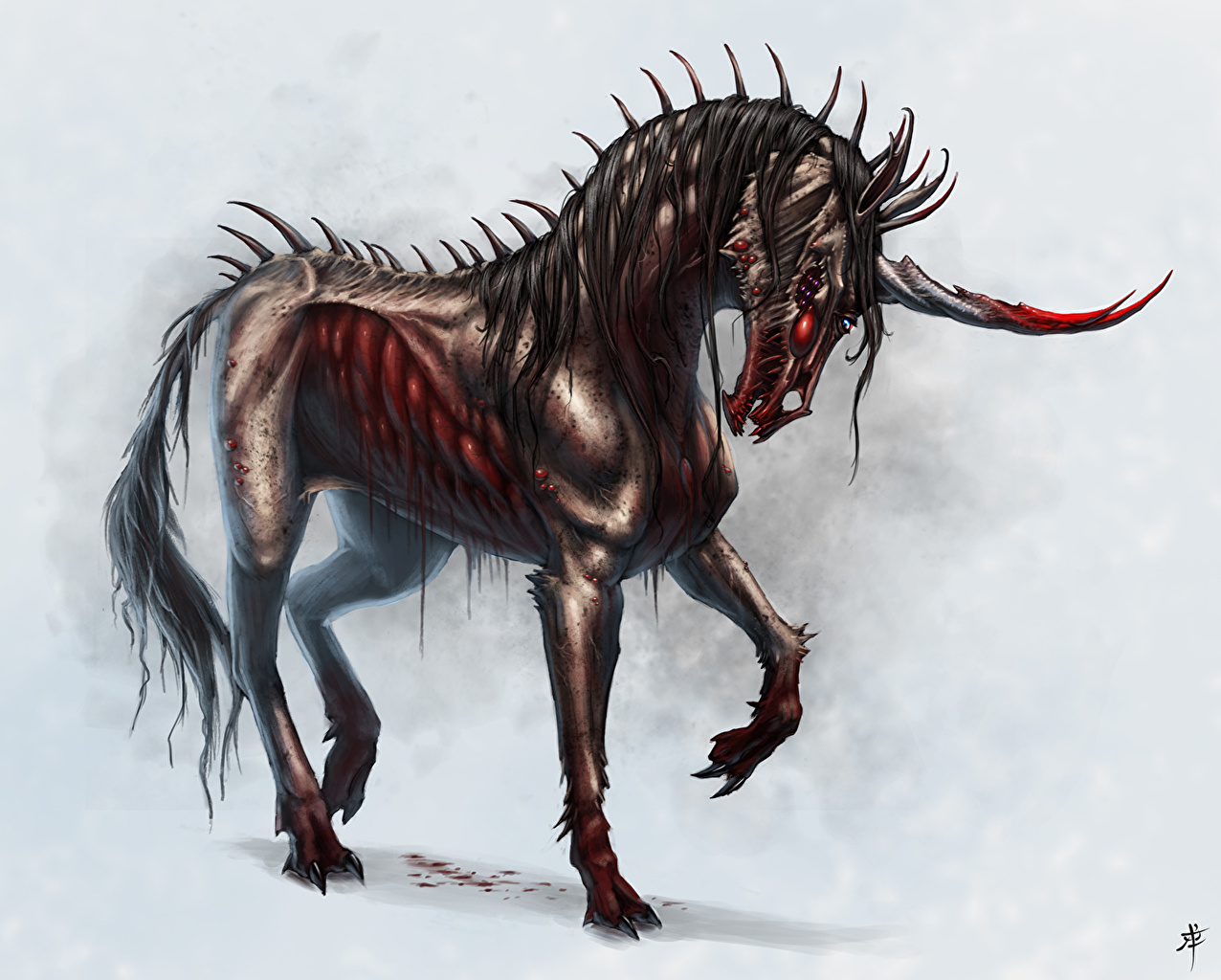 Picture Unicorns Undead Fantasy