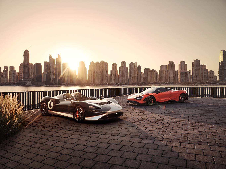 Bakgrundsbilder McLaren 765LT, MSO Elva M1A Theme Roadster Två 2 Bilar bil automobil