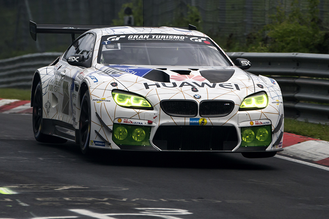 Photo BMW Tuning 2015-16 M6 GT3 White automobile Cars auto