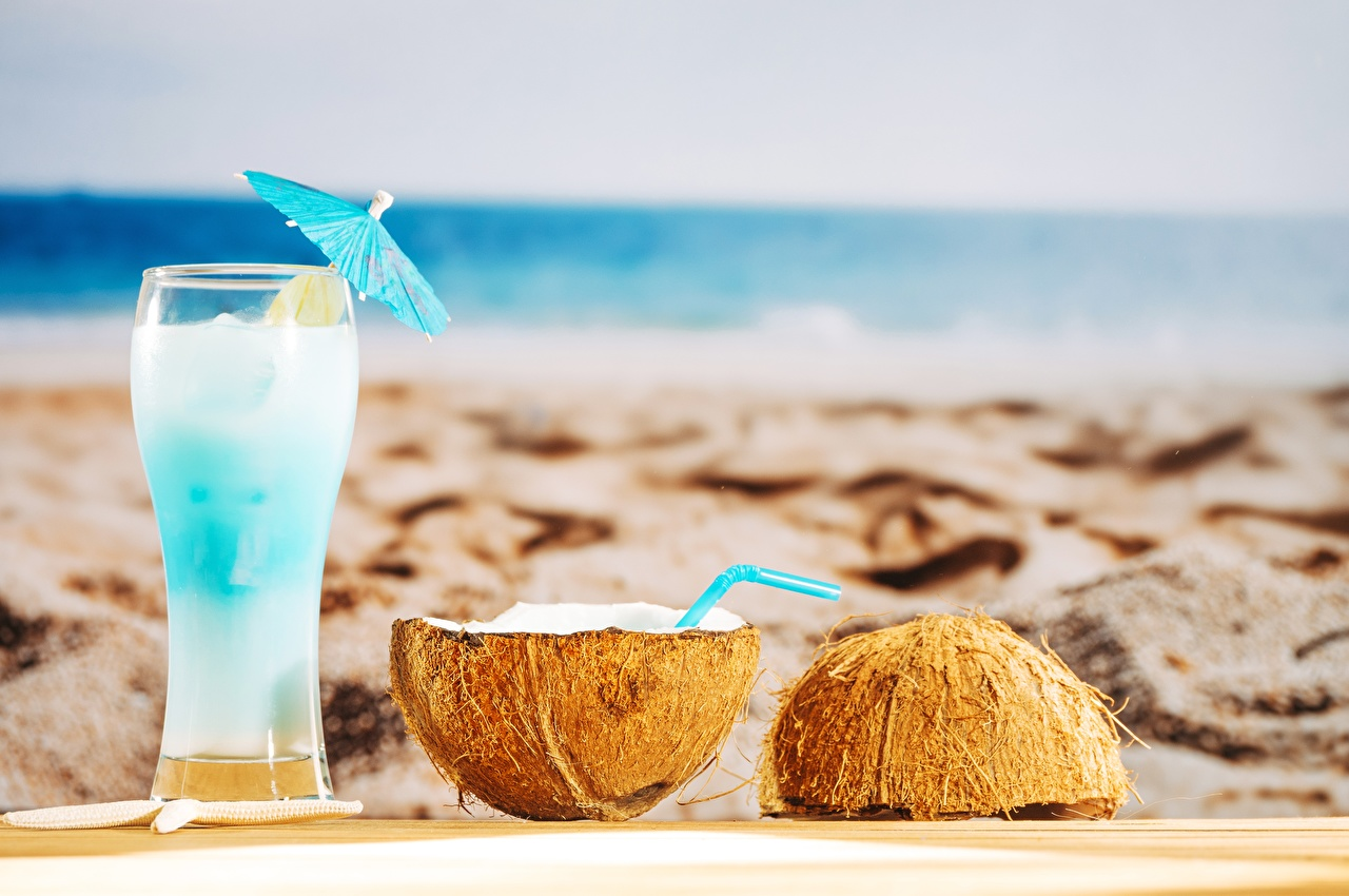 Images Beach Coconuts Highball glass Food Cocktail beaches Mixed drink