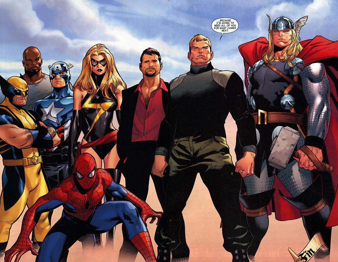 Bakgrunnsbilder til skrivebordet Superhelter Thor superhelt Spider-Man superhelt Fantasy