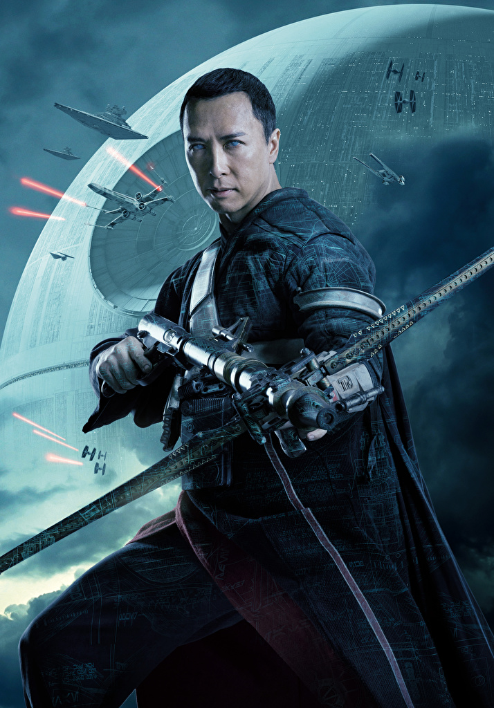 Desktop Wallpapers Rogue One: A Star Wars Story Men Chirrut Imwe (Donnie Yen) Movies  for Mobile phone Man film