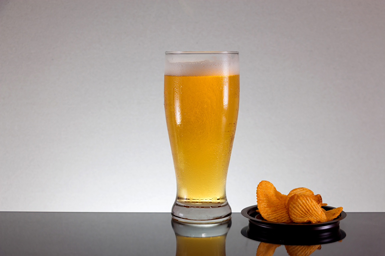 Picture Beer crisps Highball glass Foam Food Chips