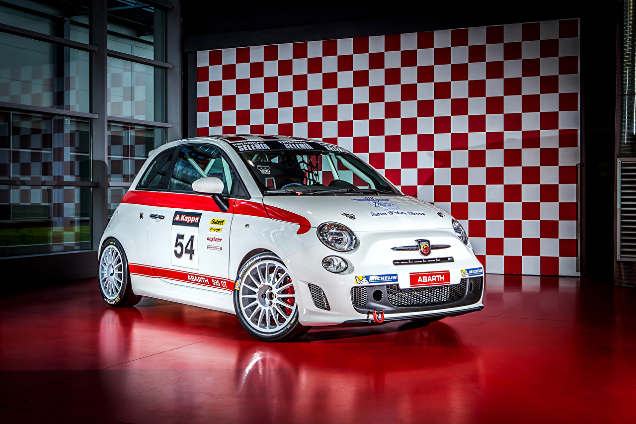 Wallpaper 2016 Abarth 595 OT (312) White Cars auto automobile