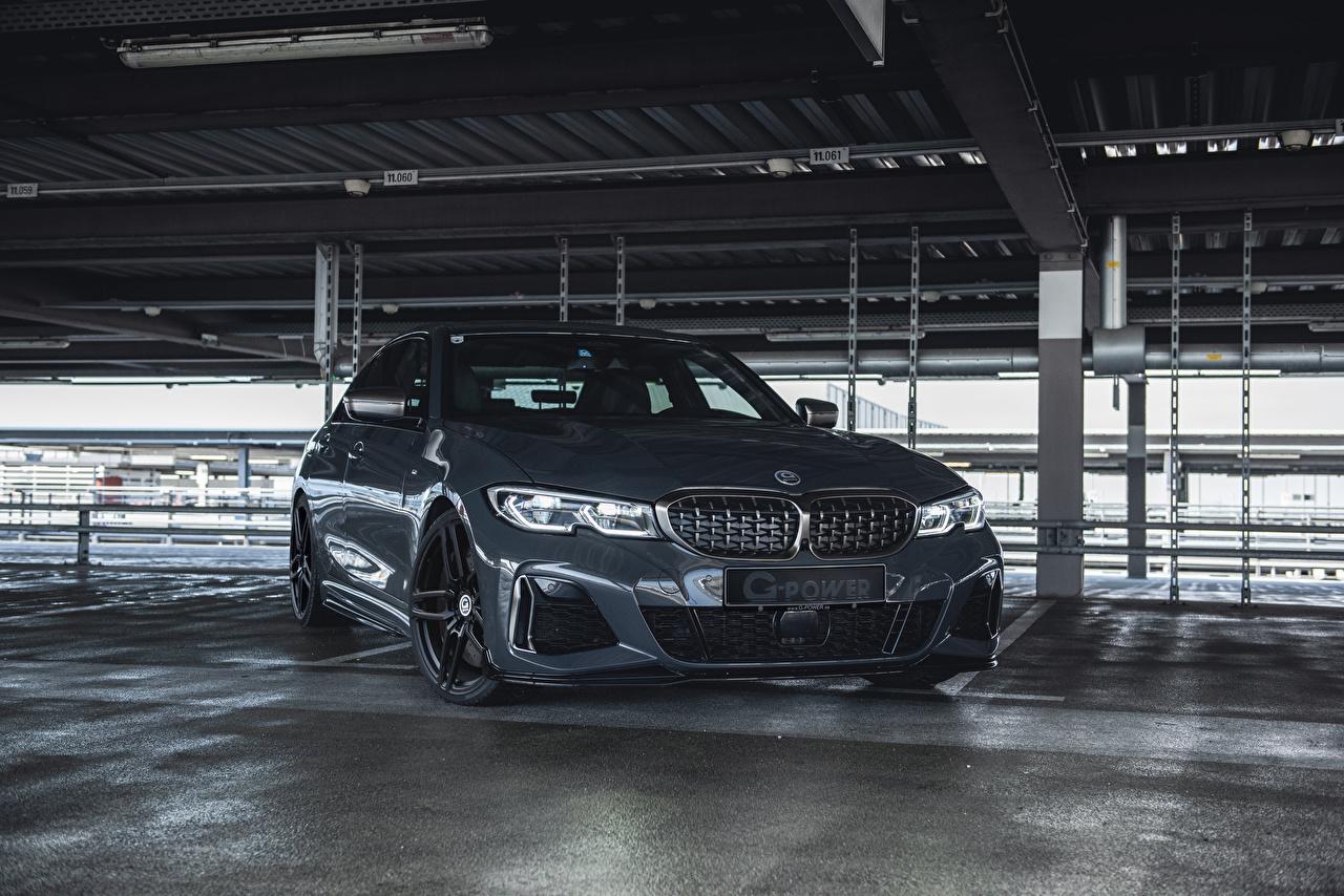 Desktop Hintergrundbilder BMW 2020 G-Power M340i Grau automobil Metallisch graue graues auto Autos
