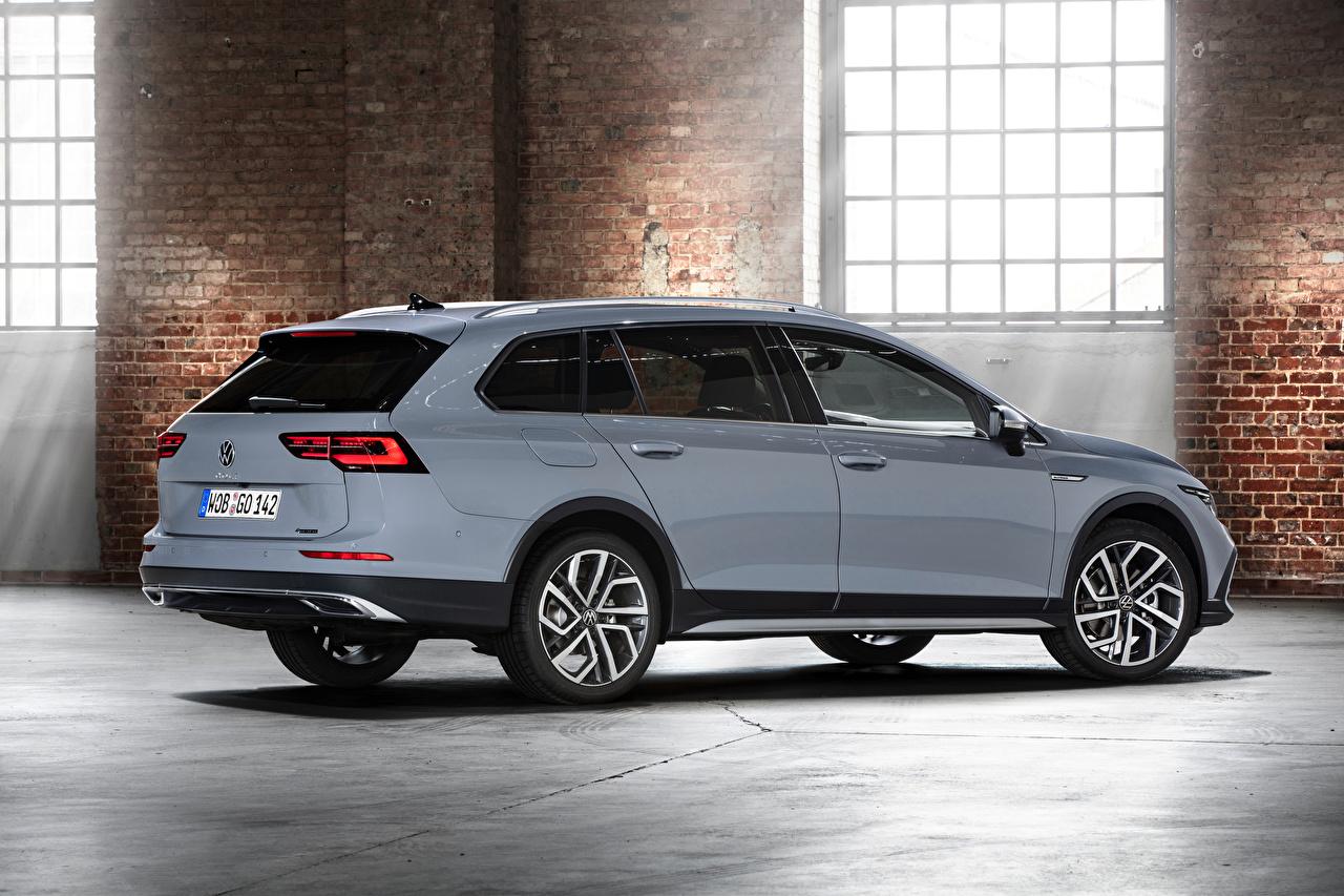 Foto Volkswagen Kombi Golf Alltrack, 2020 graue Autos Metallisch Grau graues auto automobil