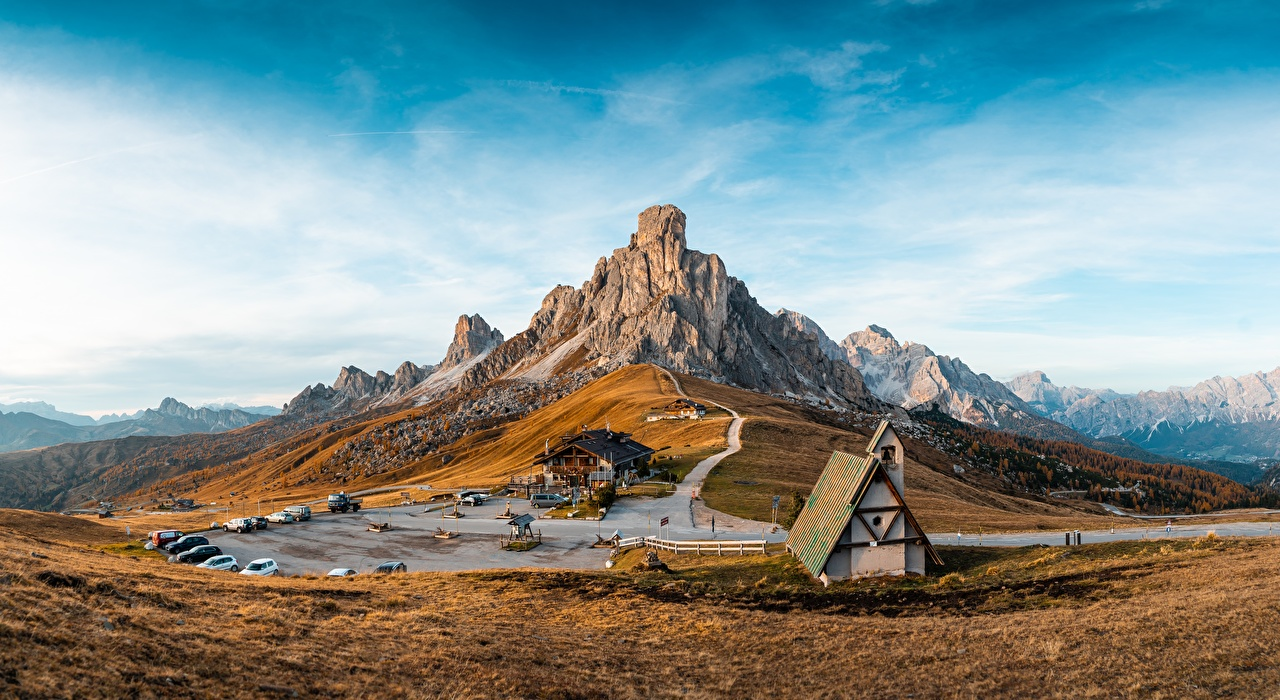 Pictures Italy Spa town Cinque Torri di Averau, Passo Jau Pass Nature Mountains Sky landscape photography Resorts mountain Scenery