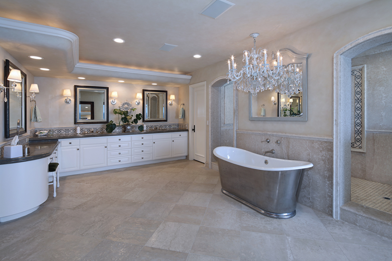 Bilder von Badezimmer Innenarchitektur Kronleuchter Design