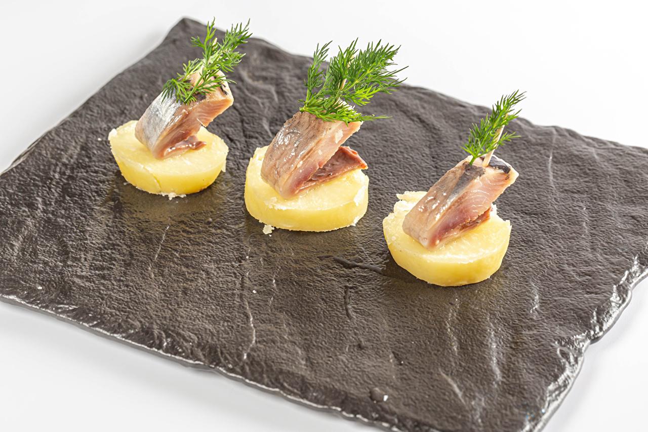 Desktop Wallpapers Potato Dill Fish - Food Food Three 3