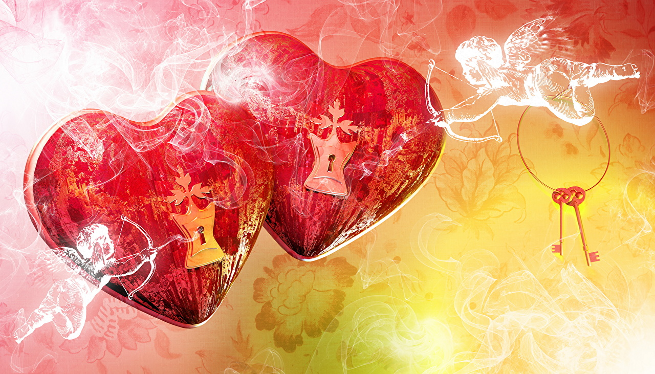Image Valentine's Day Heart 2 angel Two Angels
