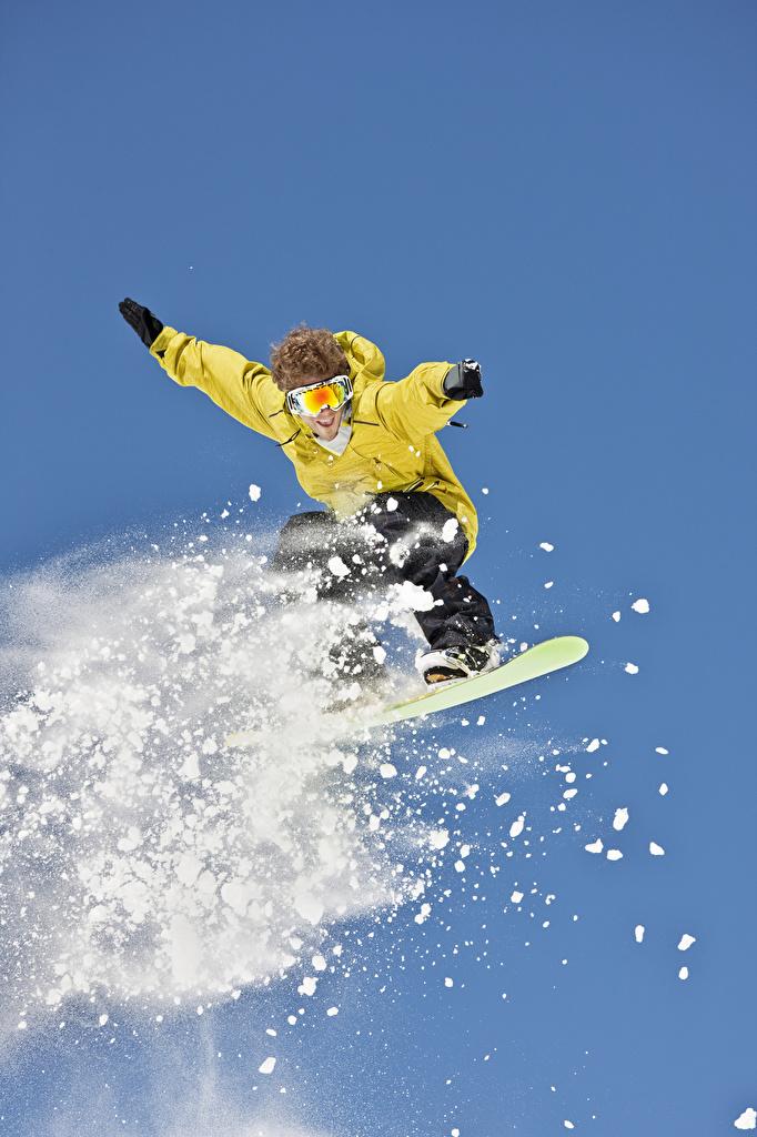 Bilder von Mann Sport Winter Snowboard Schnee Sprung