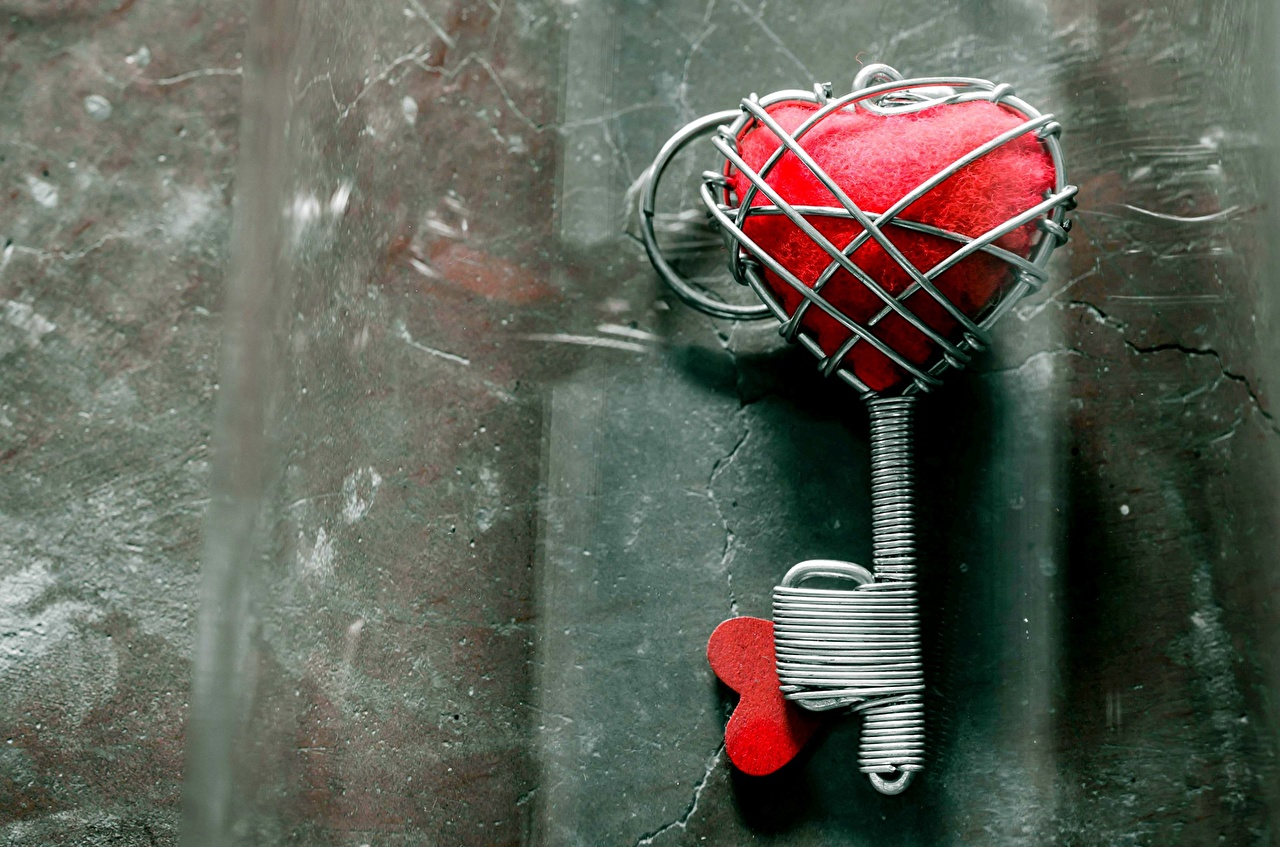 Fotos von Herz Liebe kreative Schlüssel Großansicht Kreativ originelle hautnah Nahaufnahme